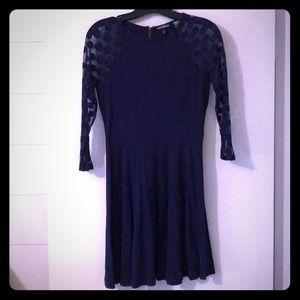 Navy blue long sleeve dress
